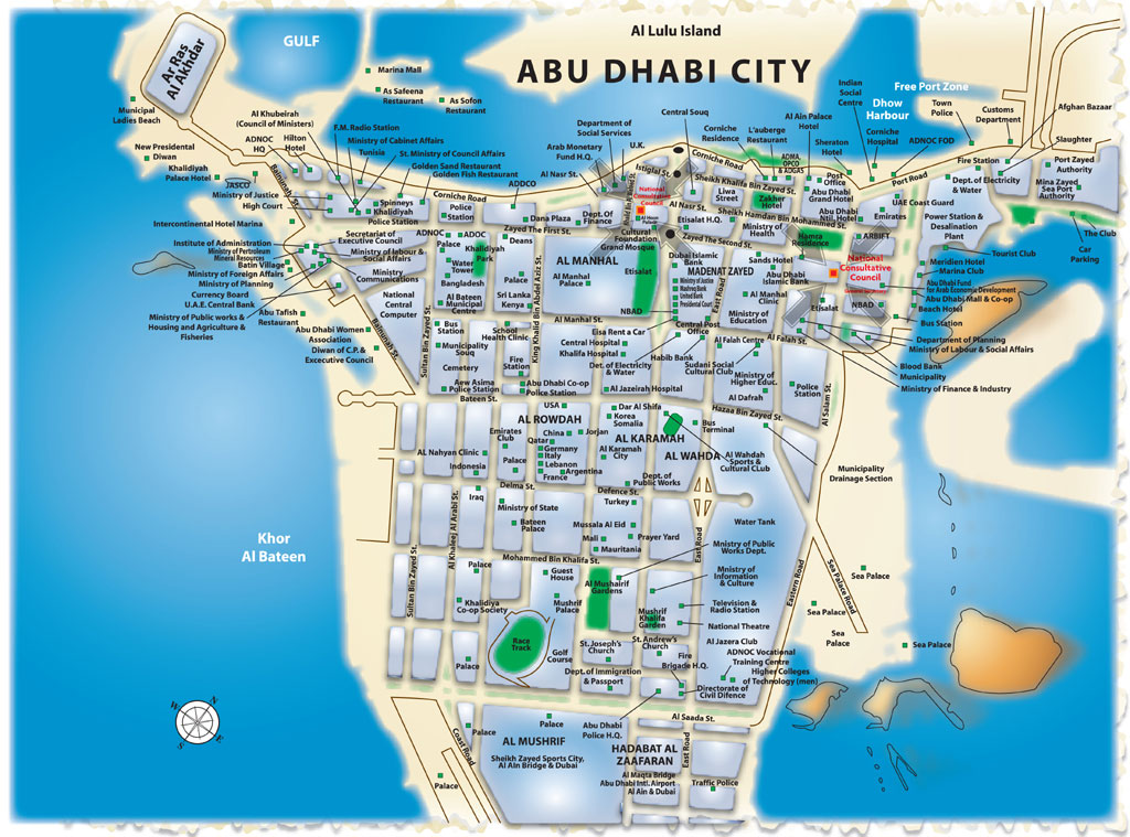 Maps Update 800743 Abu Dhabi on Map Abu Dhabi Map City Map of – Abu Dhabi Map