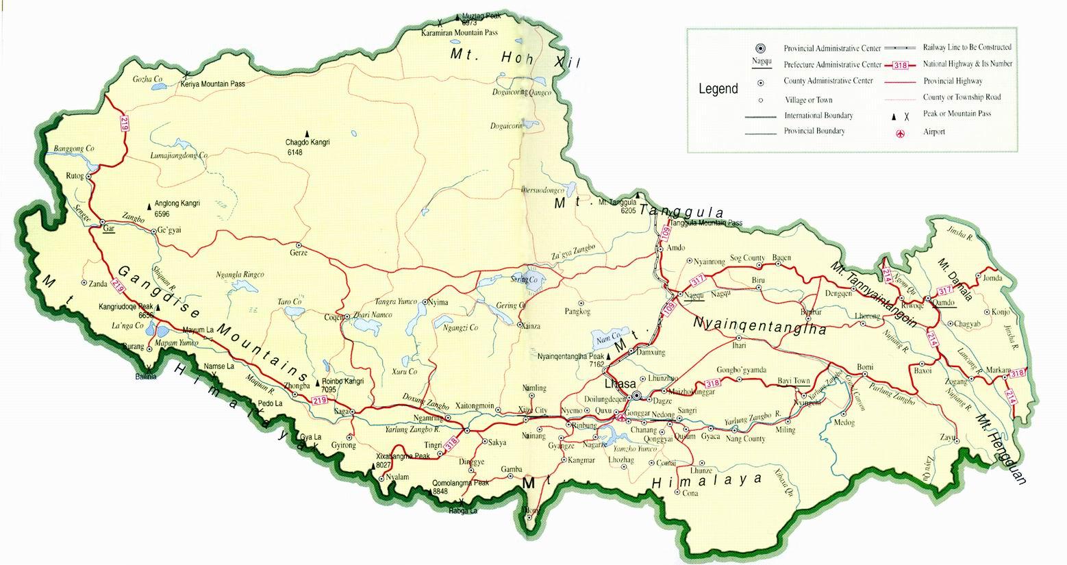 karta över tibet Kina | Travel Forum karta över tibet