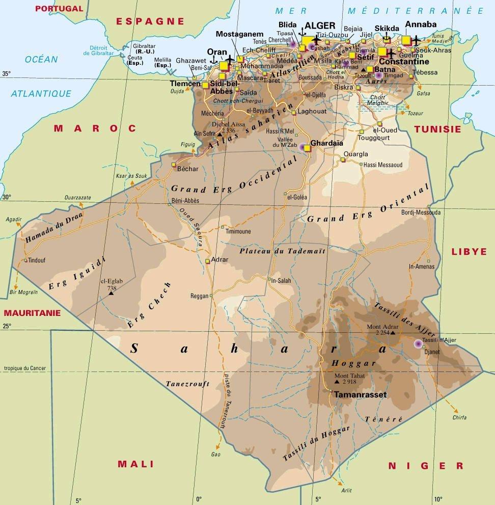 karta över algeriet Algeriet | Travel Forum karta över algeriet