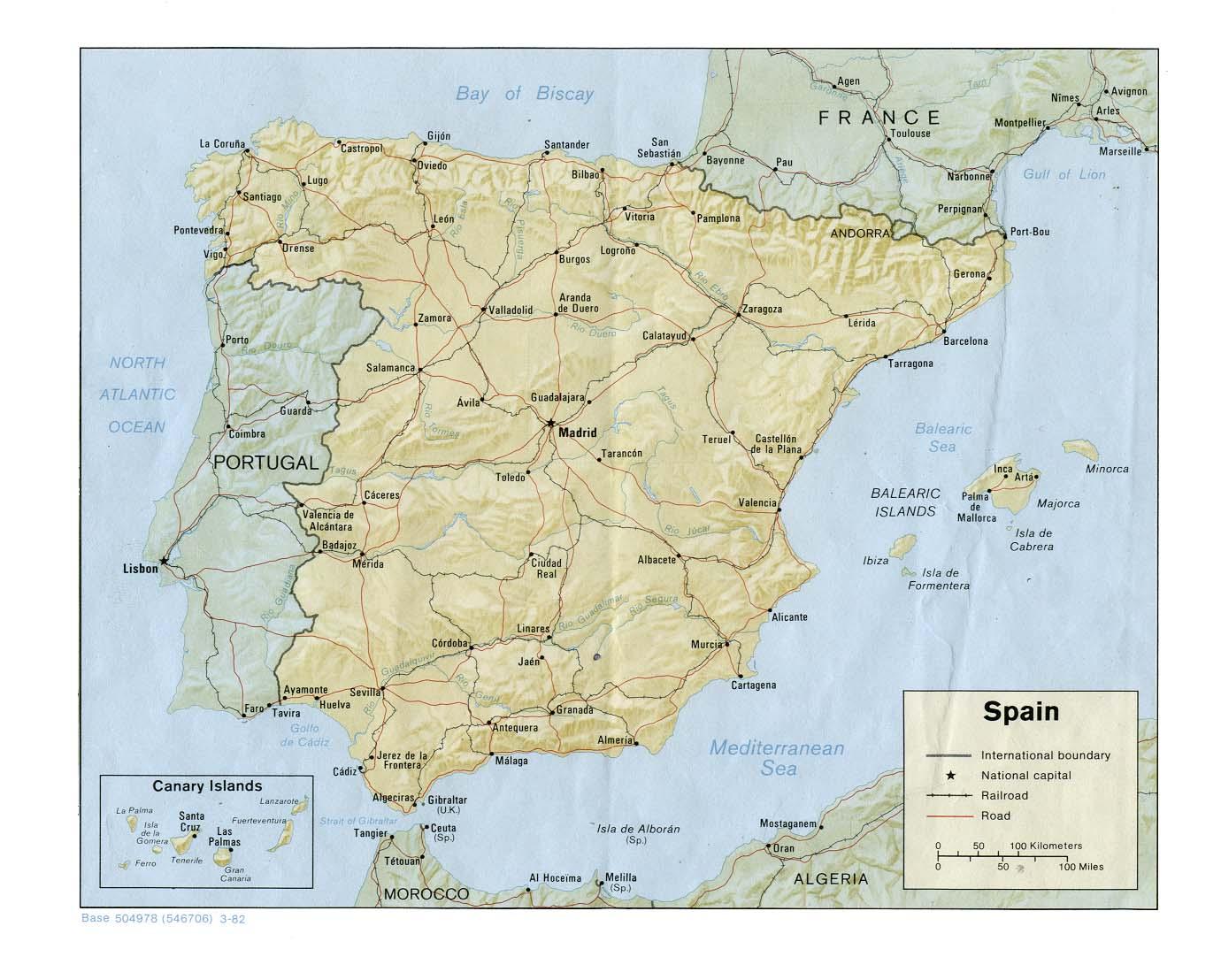 Karta Italien Spanien.Spanien Travel Forum