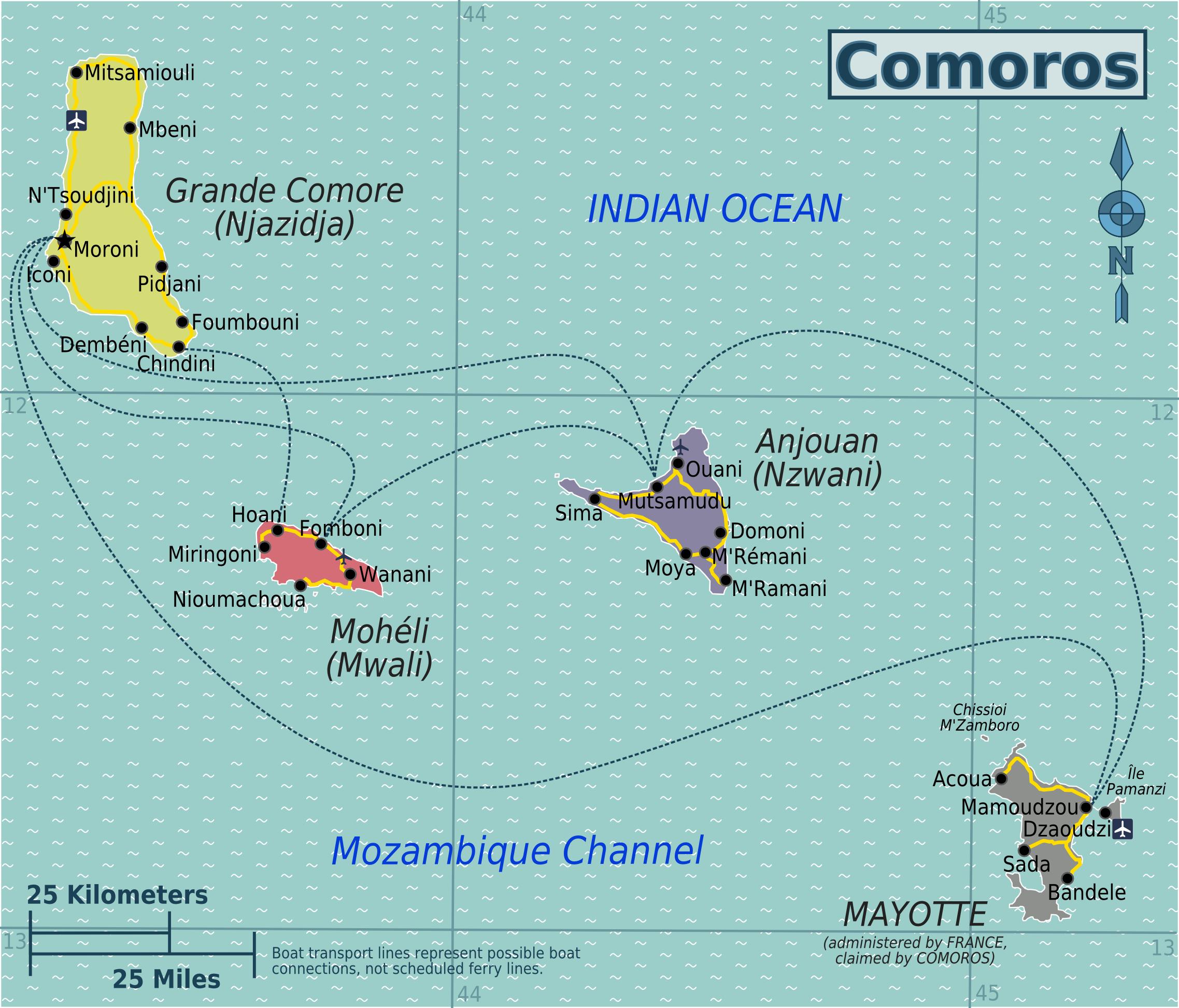 Karta Afrikas Ostkust.Komorerna Travel Forum