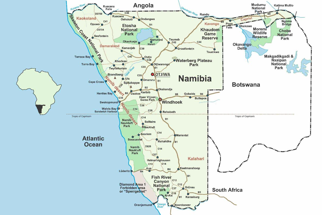 karta over namibia 3