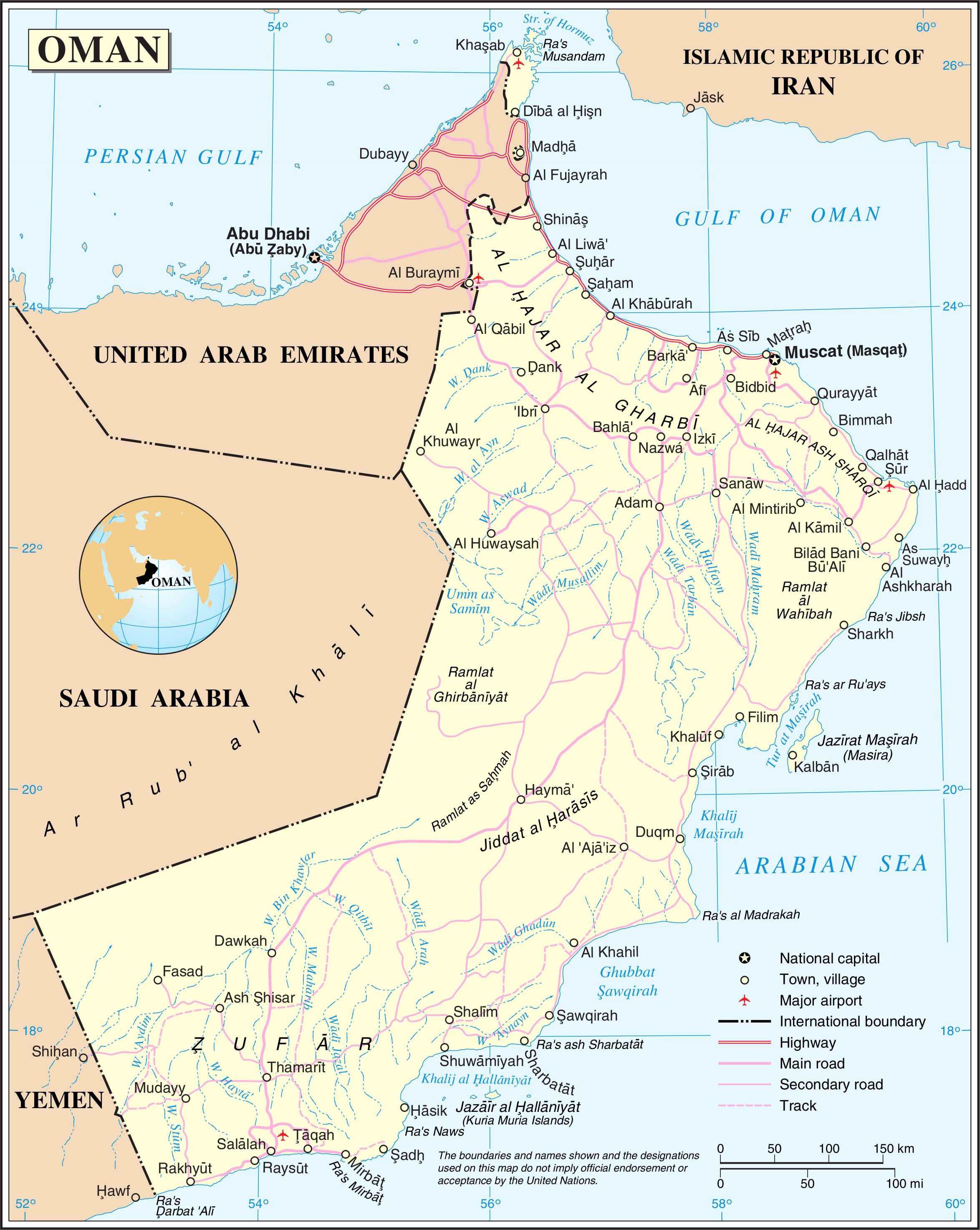 karta över kanarieöarna
