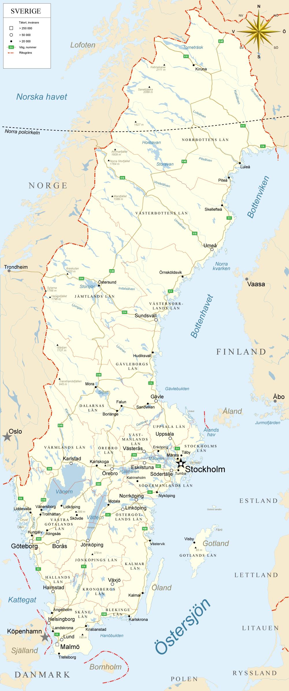 thailand karta på svenska