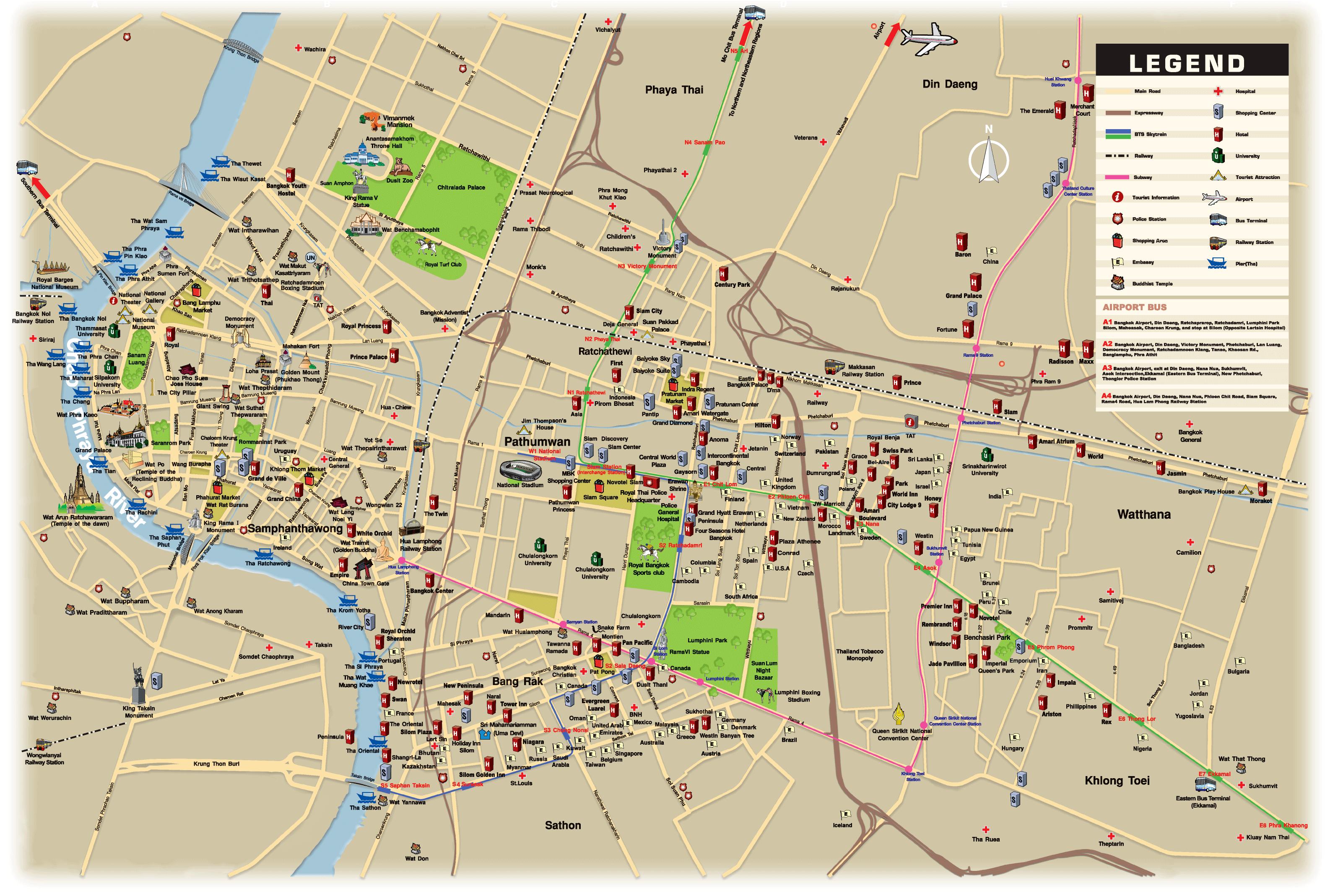 Karta Centrala Thailand.Thailand Travel Forum